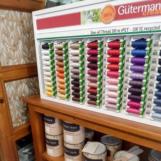 "New in store..beautiful quality cottons from gutermann creative ""sew all thread"" 100m rPET - 100% recycled polyester. A stitch in time!  #new #gutermann #sew #sewing #thread #polyester #inspired #create #creative #design #shopsmall #visitdungog"