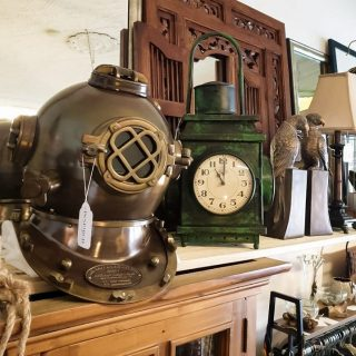 Vintage heritage items now in store!  How awesome do they look! 😁  #inspired #design #create #heritage #vintage #antique #clocks #divinghelmet #oldworld #steampunk #cool #decor #decorate #interior