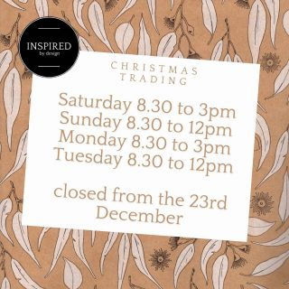 CHRISTMAS TRADING HOURS 🎄🌟  From the 23rd December, we will be closed for the Christmas season and will return afterwards! ❤  #12daysofchristmas #christmas #christmassale #inspired #inspiredbydesign #dungog #shoplocal